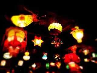 多样造型的灯笼喜庆图片