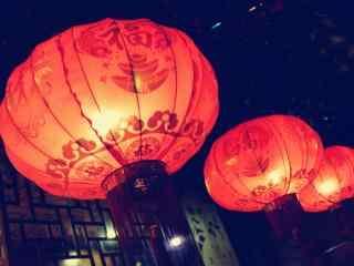 新年福到大红灯笼喜庆图片