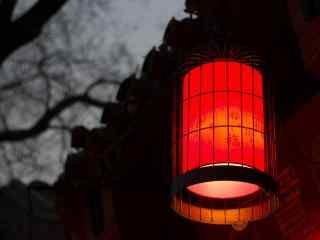 复古独特的大红灯笼图片桌面壁纸
