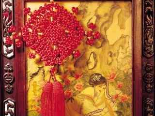 红色的新年中国结图片
