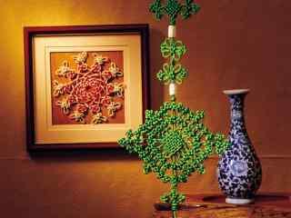 创意绿色中国结图片