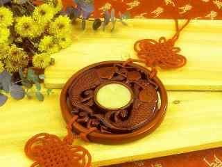 金色祥瑞中国结图片壁纸