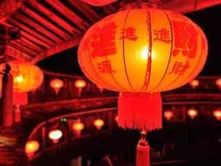 新年祝福喜庆大红灯笼图片