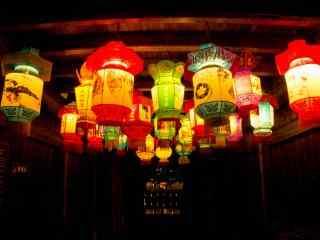 多种造型的春节花式灯笼图片