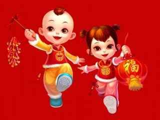 可爱春节福娃图片壁纸
