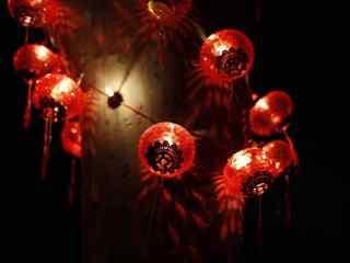 红色闪亮的小灯笼可爱喜庆图片