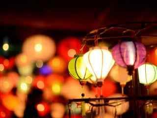 花式彩色灯笼漂亮花灯图片