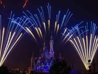 香港迪士尼唯美新年烟花图片