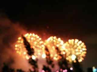 美丽的烟花夜景图片