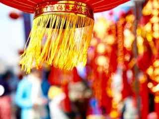 喜庆中国年大红灯笼图片