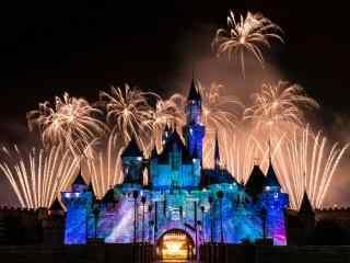 梦幻迪士尼新年烟花唯美图片