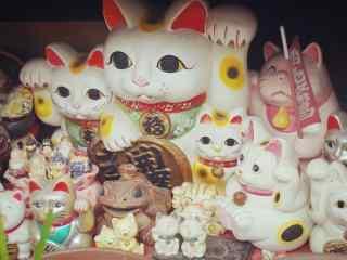 招财猫大聚会可爱