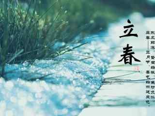 立春节气壁纸之春雪图片