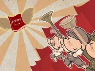 青年节共产主义接班人卡通图片