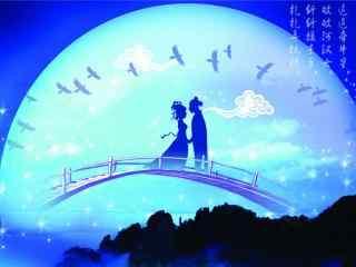 唯美的七夕牛郎织女鹊桥相会
