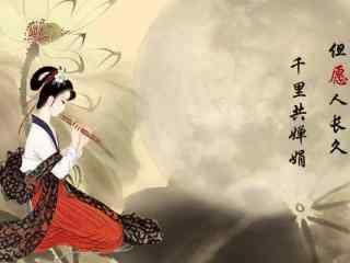 2017年中秋节手绘嫦娥桌面壁纸