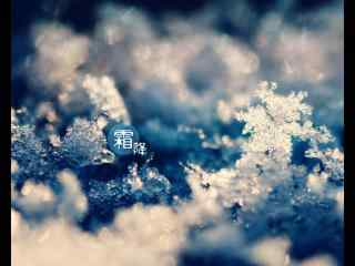 2017年霜降唯美雪花桌面壁纸