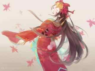 阴阳师美女式神鬼女红叶桌面壁纸