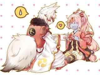阴阳师手游同人图之妖狐与跳跳妹妹
