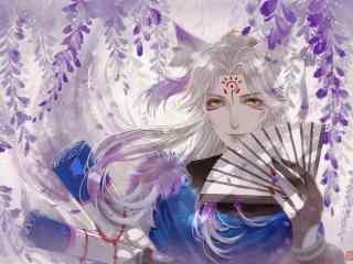 阴阳师SR式神妖狐桌面游戏壁纸