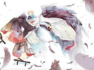 阴阳师唯美的大天狗桌面壁纸
