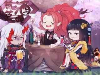 阴阳师酒吞童子酒吧桌面壁纸