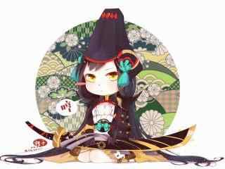 阴阳师式神Q版妖刀姬桌面壁纸