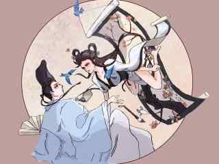 阴阳师花鸟卷唯美同人图壁纸