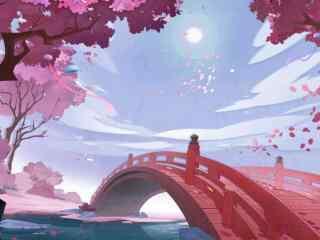 阴阳师唯美樱花祭开场动画壁纸