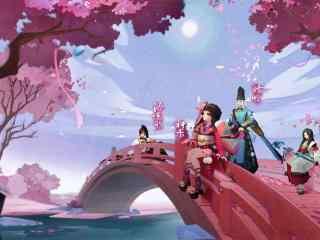 陰陽師櫻花祭唯美桌面壁紙