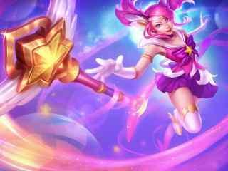英雄联盟拉克丝魔法少女同人桌面壁纸