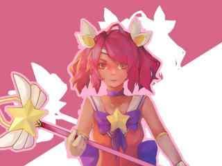LOL可爱魔法少女拉克丝桌面壁纸
