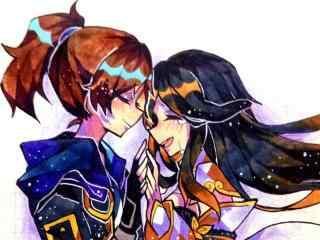 紫霞仙子和至尊宝甜美同人图