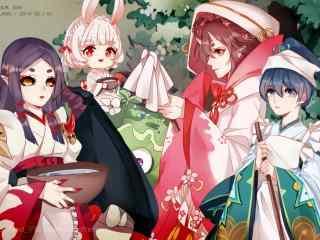 阴阳师女式神唯美同人图壁纸