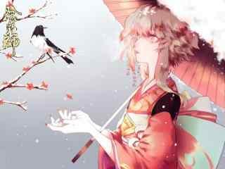 阴阳师神乐手绘高清壁纸