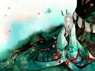 阴阳师唯美同人之树下睡觉的小鹿男