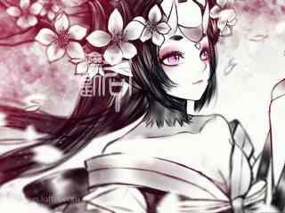 阴阳师桃花妖手绘桌面壁纸