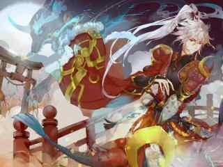 阴阳师源博雅手绘游戏壁纸