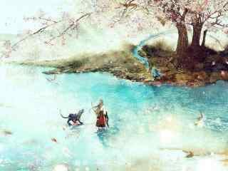 阴阳师源博雅与晴明唯美壁纸