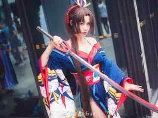 妖刀姬櫻雨刀舞cosplay桌面壁紙