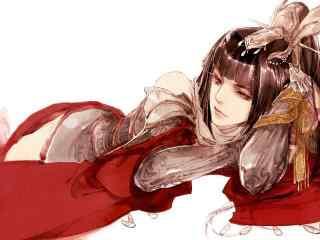 剑网三天策军娘唯美手绘壁纸