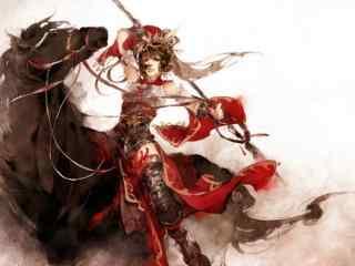 剑网三天策军娘手绘壁纸
