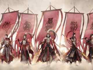 剑网三帅气的天策手绘壁纸