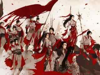 剑网三天策全员同人图壁纸