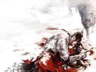 剑网三天策之雪地风情壁纸