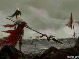 剑网三天策军娘帅气背影壁纸