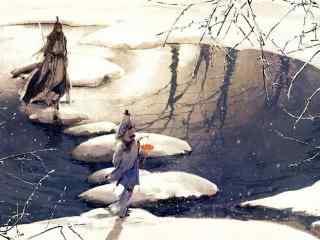 剑网三纯阳手绘桌面壁纸