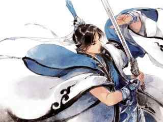 剑网三纯阳道长手绘壁纸