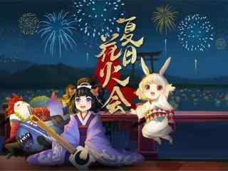 阴阳师夏日祭山兔与孟婆同人图