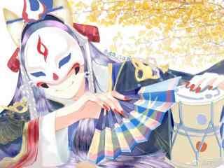 阴阳师玉藻前手绘图片壁纸